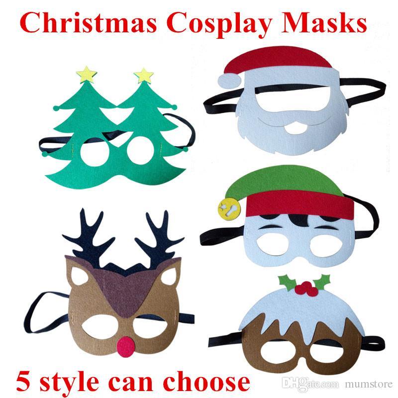 Joker Christmas.2019 5 Styles Christmas Theme Masks Santa Claus Christmas Tree Elk Joker Masks Kids Masquerade Costumes Cosplay Festival Party Supplies From Mumstore