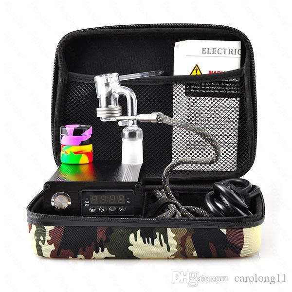 Quartz E Dab Nail Boîte Kit Electic 14 18 MM Femelle Quartz Homme Nail Électrique Dab Nail Kit Complet de Température Contrôleur 100w Dabber Outils