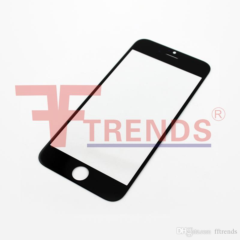 Für iphone 6 4,7 zoll frontglas objektiv ourter touchscreen abdeckung schwarz weiß ersatz ersatzteile kostenloser dhl versand