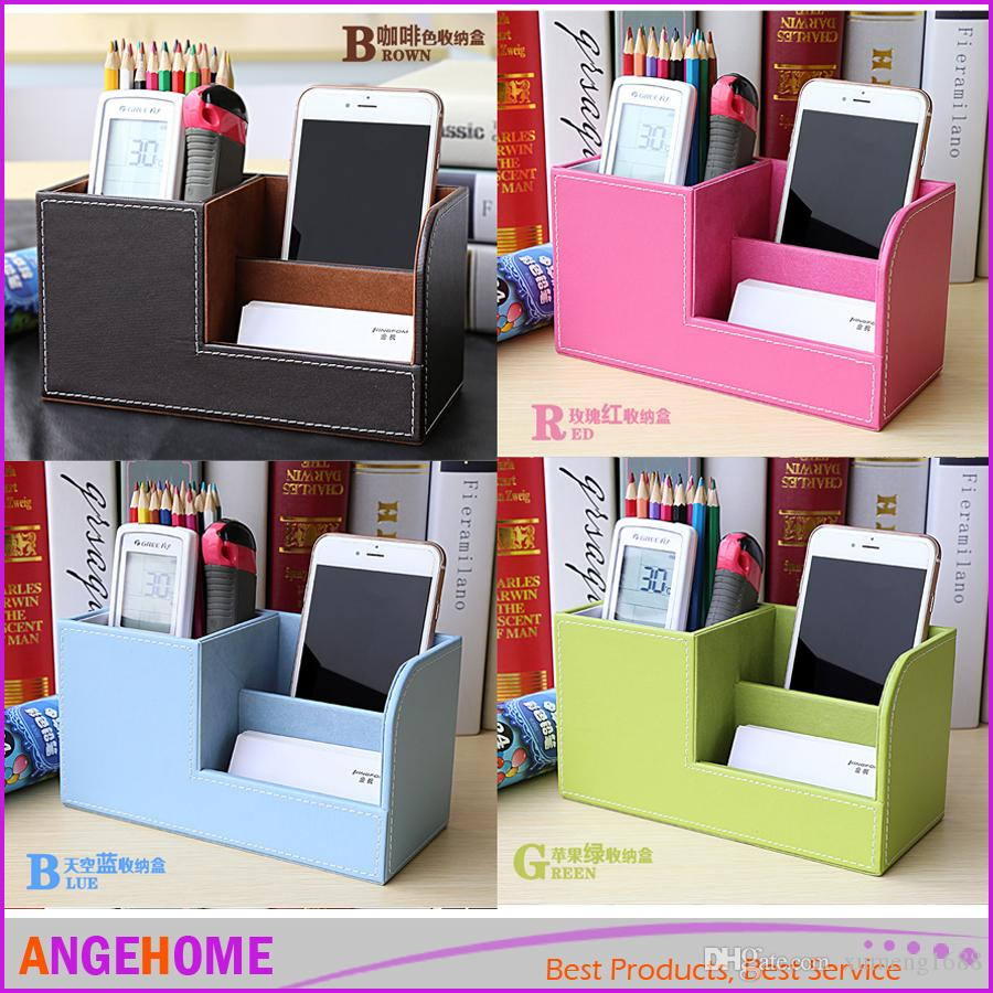 2018 pu leather multi functional desk stationery office organizer 2018 pu leather multi functional desk stationery office organizer storage box pen pencil box business card holder case from xumeng1688 742 dhgate reheart Gallery