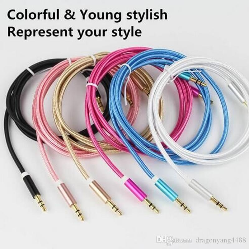High qualityAudio Aux Usb Cable Cord 3.5mm Male To Male Extension 1m Wire For Car/iphone 7 6s 6plus 5s/Samsung/Mp3/4/Headphone
