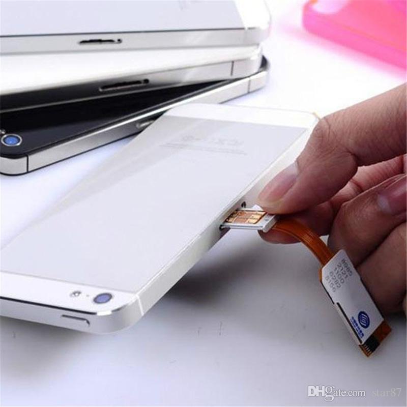 Micro adattatore scheda SIM doppia iPhone 5 5S 5C Accessori scheda SIM cellulare