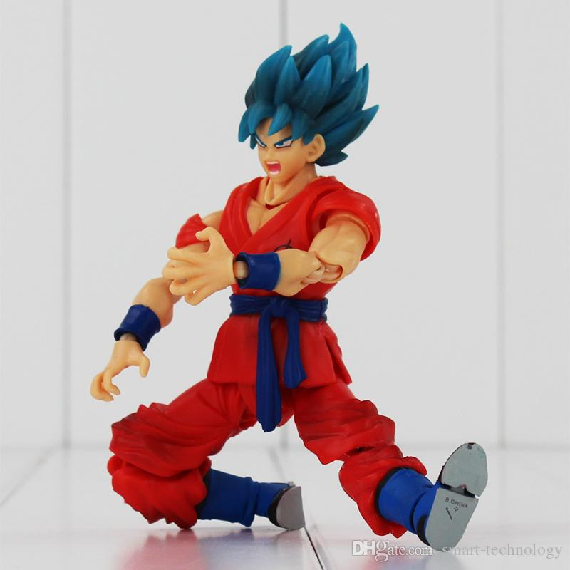 Anime Dragon Ball Figures The Monkey King Goku PVC Action Figure Collection Model Toy High Quality 15CM EMS