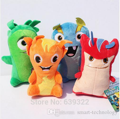 "Slugterra Plush Toys 6""15cm High Quality Stuffed Dolls With Tag 4pcs/set High Quality Free Shipping"