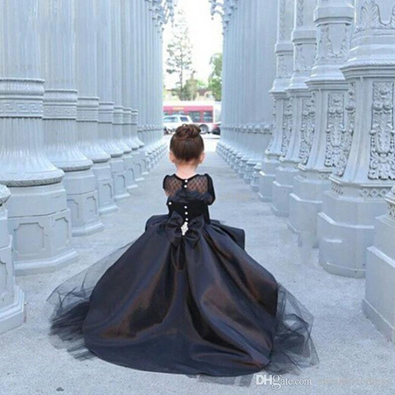 2017 Fashion Black Mother and Daughter Prom Dresses Off Shoulder High Low tulle satin Evening Gowns vestidos de baile Custom Made
