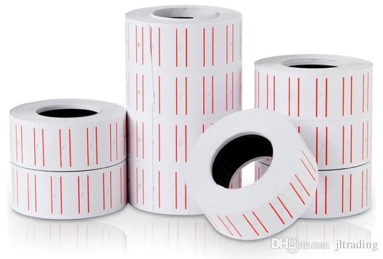 Paquete de joyas Popular 10 rollos 4000 piezas Etiqueta de precio en blanco para MX-5500 GUNS REFILL Wholesale Wholesale Shipping