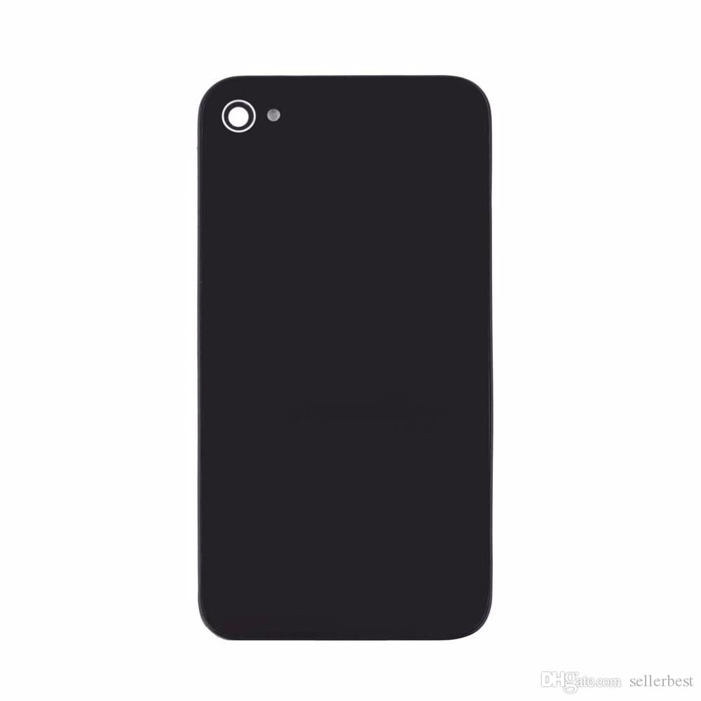 Cubierta de batería blanca / negra Cubierta trasera de vidrio Caja trasera Puerta CDMA GSM NEGRO + Destornillador pentalobe para iPhone 4S 4G 4 iPhone4S iPhone4