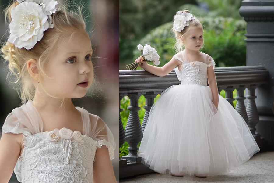 2017 Cute Toddler Flower Girls Dresses For Weddings 2017 Newest Lace Tulle Tutu Ball Gown Infant Children Wedding Dresses Party Dresses