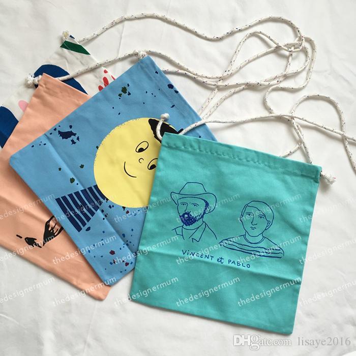 2018 bobo choisit garçons filles graffiti grosse tête modèle bébé enfants dessin animé Stockage Sacs 4 style cartable Sacs à bandoulière