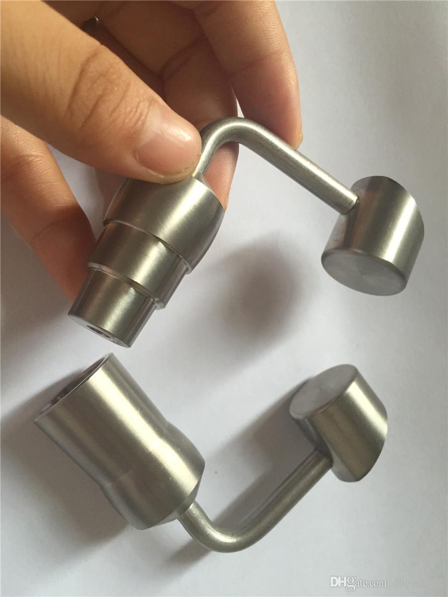 Großhandel 14 / 19mm männlich weiblich Domeless Titan Banger Nails Konzentrat Zubehör für Glas Bongs Klieschen Rigs Recycler Glas Bong