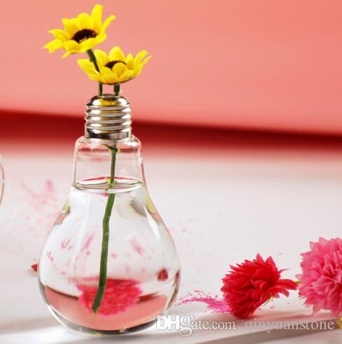 Diy Creative Bulb Flower Vases Home Decoration Glass Vases Decorative Glass  Vases Home Decor New Vases Modern Tabletop Decor Garden Pots White Floor  Vase ...