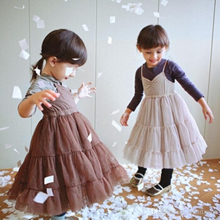 Neonate Abiti 2016 stile coreano principessa costume carino bambini Sling Dress ragazza di alta qualità vestiti all'ingrosso