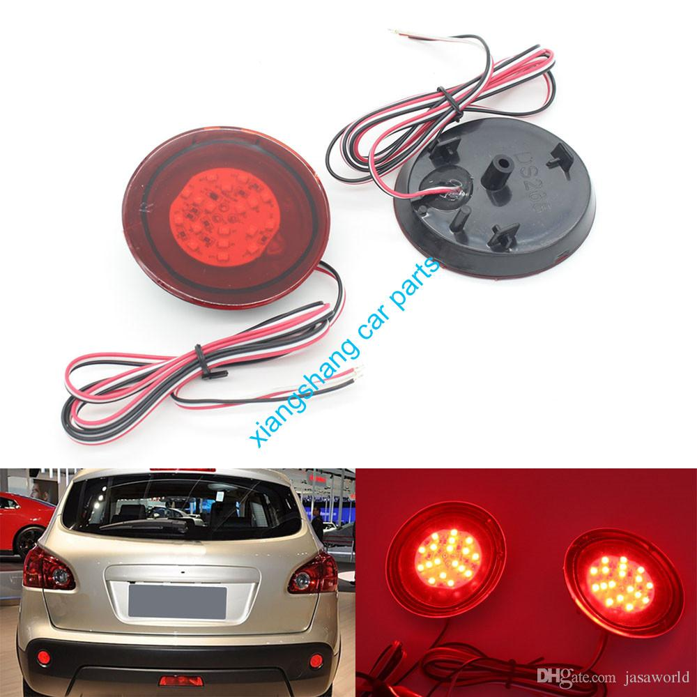 Red Lens Led Bulbs Car Styling Warning Rear Bumper Reflector Brake