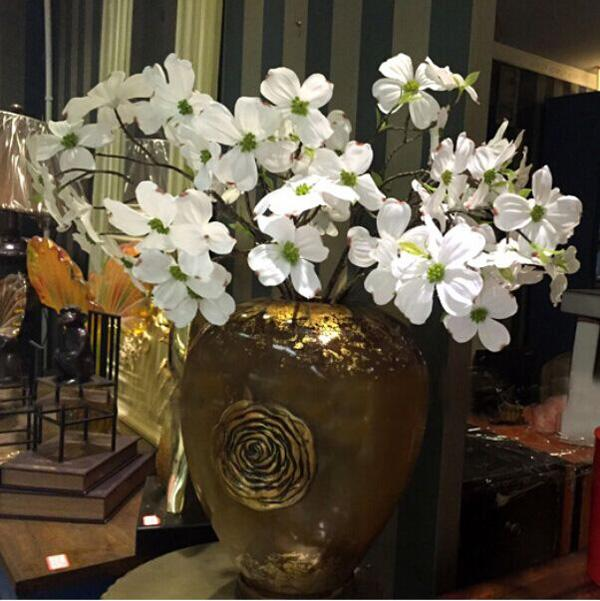 2018 cornus florida dogwood flower sprayin cream 27inches tall 2018 cornus florida dogwood flower sprayin cream 27inches tall delicate artificial silk flowers for furniture furnishings home garden decoration from mightylinksfo