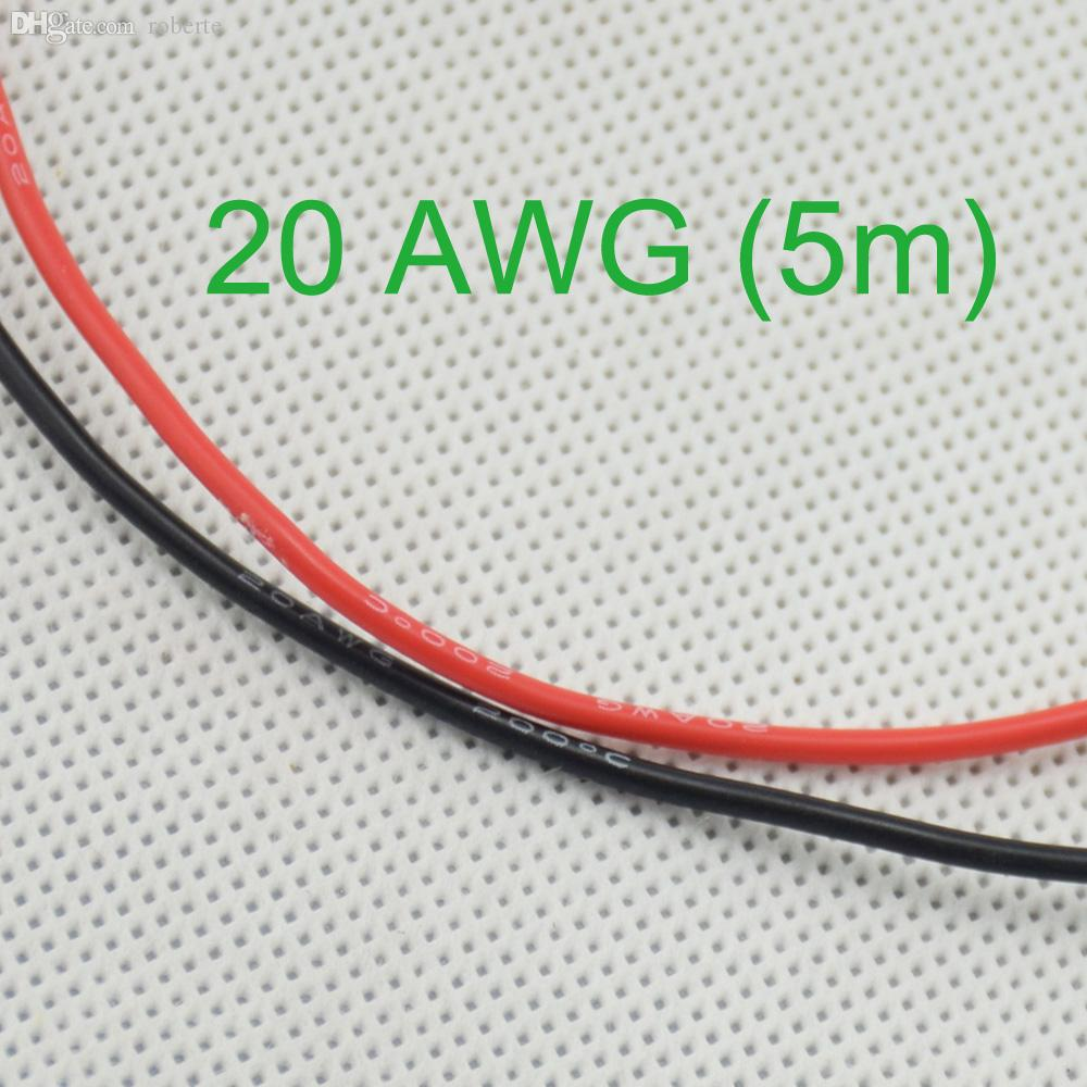 Awg 5m Gauge Silicone Wire Wiring Flexible Stranded Copper Cables For Rc From Roberte 20 15 Dhgate Com
