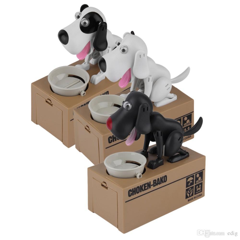 CHOKEN-BAKO Cute My Dog Model Piggy BANK Eat Eatten Bank Money Save Pot Saving Coin Box Creative Gift can't resist Taste So Good I Love Mony