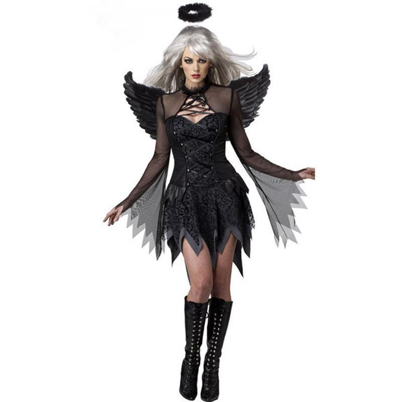women high quality halloween costumes devils character cosplay costume party black clothes halloween party club fashion theme clothes bunny costume adult - High Quality Womens Halloween Costumes