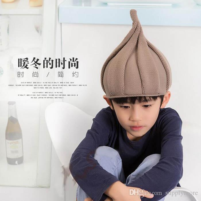 Boys Girls crochet hats baby winter caps children hat Stingy Brim hats girl boy beanie skull cap wholesale