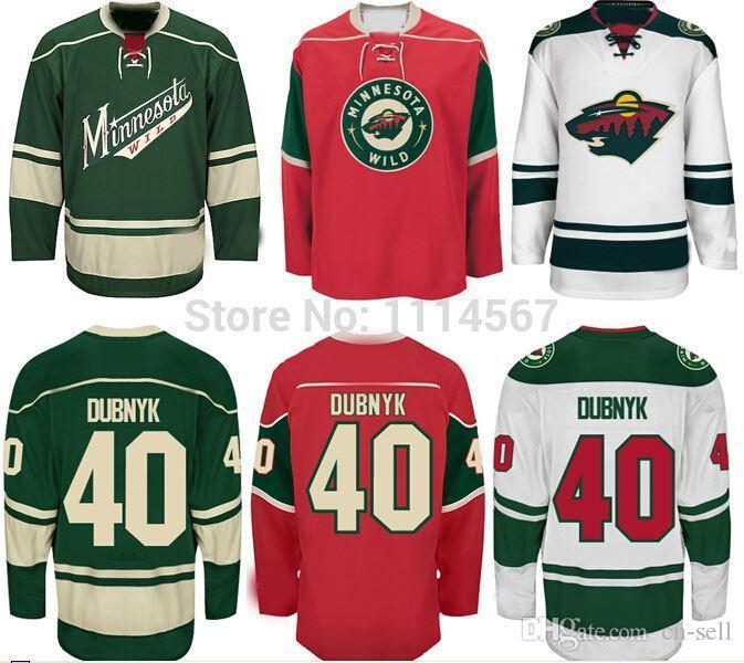 low priced c85bd c1712 Minnesota Wild #40 Devan Dubnyk Jersey Cheap Wholesale Ice Hockey Jerseys  New Green Red White Stitched Logos Best Quality