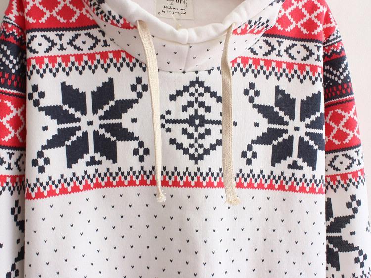 Moletom Mulheres Com Capuz Primavera Outono Sportwear Floco De Neve Impressão de Lã Francês Terry camisola Mulheres Hoodies