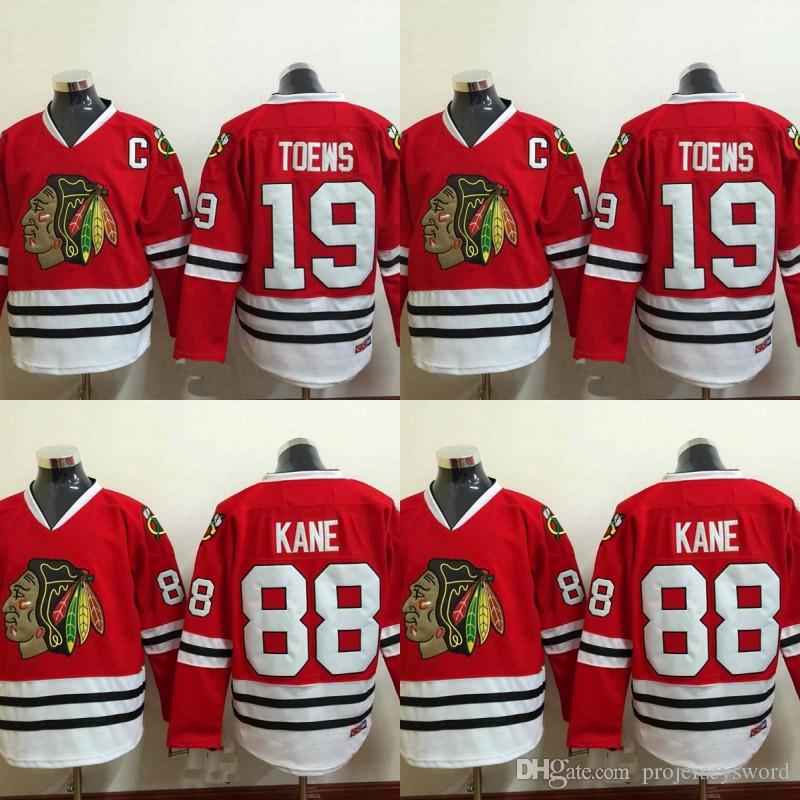 a588b036d89 2019 Youth Kids Chicago Blackhawks Jersey 19 Jonathan Toews 88 Patrick Kane  100% Stitched Embroidery Logos Hockey Jerseys Cheap Red From  Projerseysword, ...