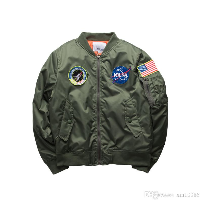 New 2016 Flight Pilot Jacket Bomber Ma1 Jackets For Men Winter ...