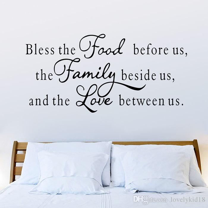 Large Foyer Quotes : Cm large bless food family love wall sticker english