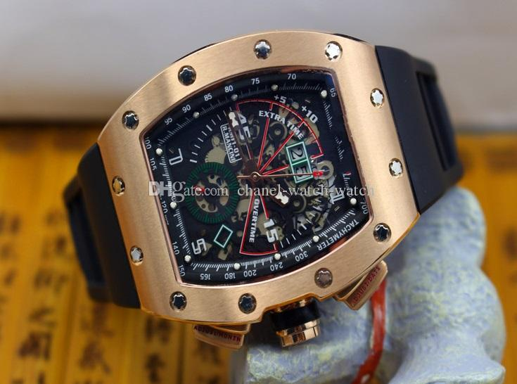 3 Color Luxury Aaa Top Quality Roberto Mancini Skeleton Automatic Mens Watch Men S Sports Wrist Watches Rubber Band Transparent Back