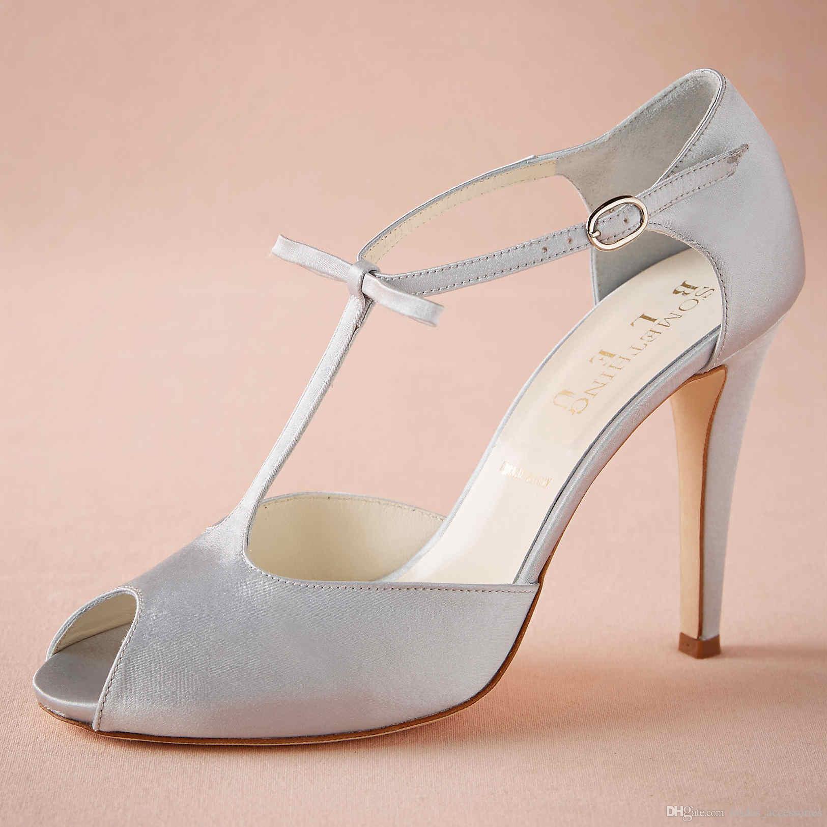 c68d69ab38c Blue Wedding Shoes Peep Toe 2015 Women Pumps Bow T-straps Party Dance 4  High Heels Platform Women Pumps Wedding Wrapped Heel Custom Made