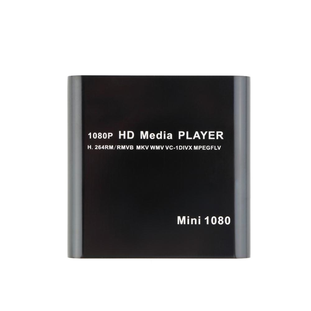 1080P Mini Media Player MKV H.264 RMVB Full HD with HOST Card Reader AVI DIVX MKV MOV HDMOV MP4 M4V PMP AVC FLV VOB MPG DAT MPEG TS TP M2TS