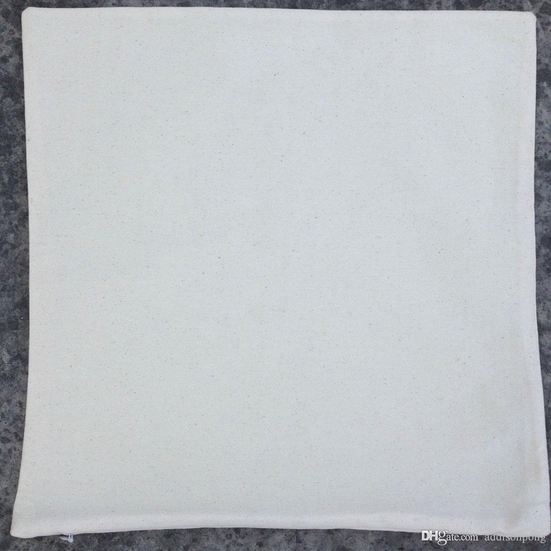 natural light ivory white color pure cotton twill blank cushion