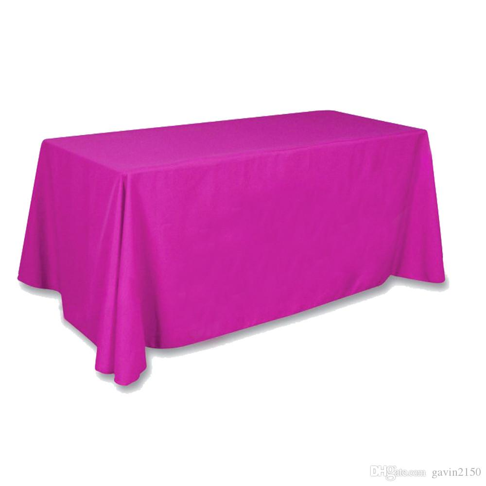 High Quality Rectangular 145*304cm Satin Tablecloth Table Cover For Wedding Party Banquet Hotel Decoration Black