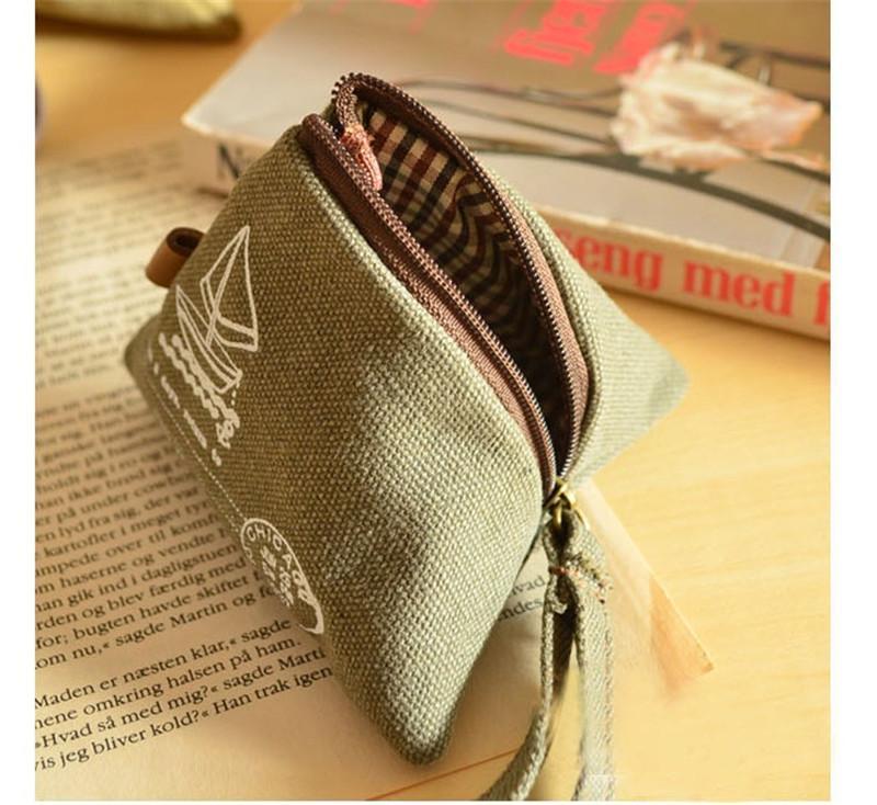 Al por mayor-Kawaii Retro Times China Arroz Dumpling forma 8CM Monedero Llaves de almacenamiento de lienzo Holder Case Wallet Pouch Mujeres B907