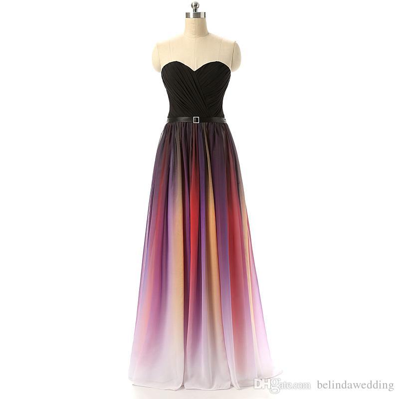 Gradient Chiffon Dress