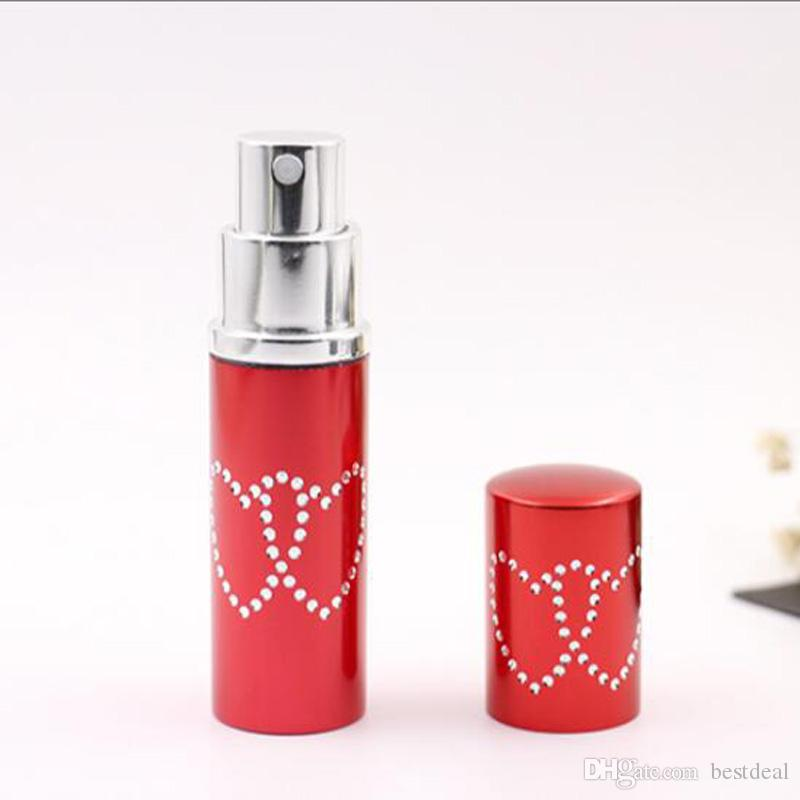 10cc 10ml Refillerbar Portable Mini Double Love Heart Perfume Flask Resenär Aluminium Spray Prov Tomma behållare Atomizer