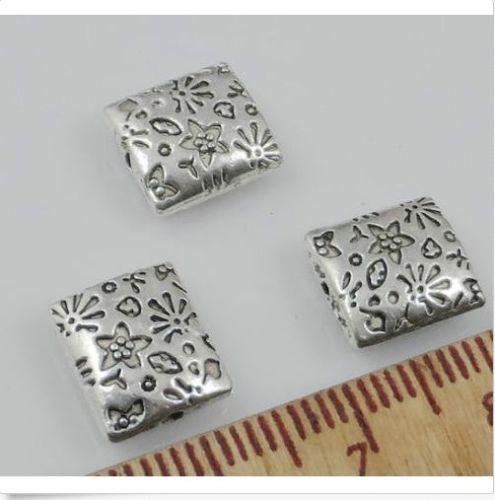 Navio livre Prata Tibetano liga Spacer Beads Para Fazer Jóias 10x9mm