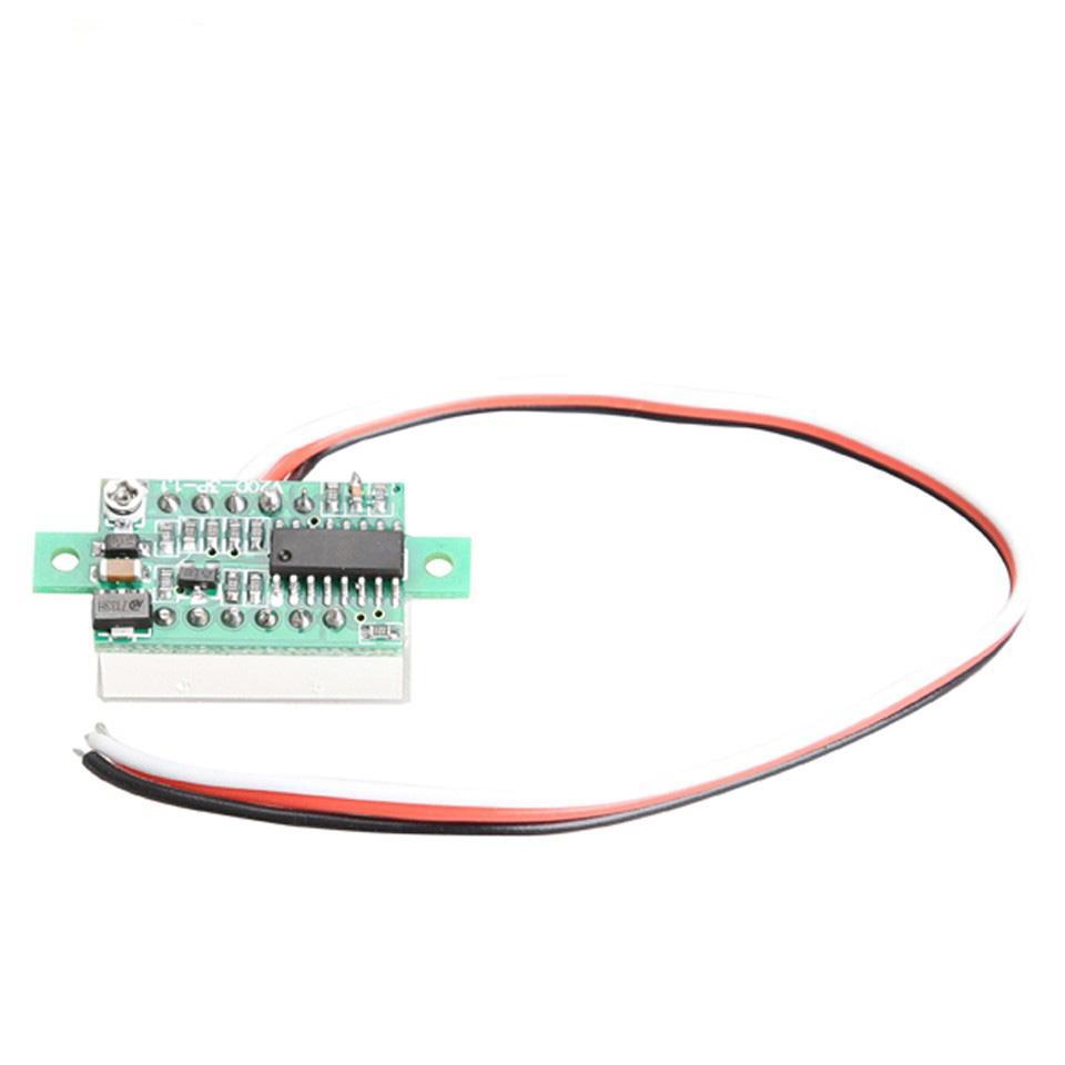 BESTE Auto Voltmeter DC 0-100 V Tragbare Digital Voltmeter Licht Rot LED Panel Auto Spannung Meter Auto Zubehör