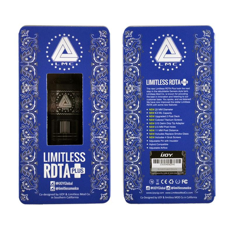 Limitless RDTA Plus 6.3ml Big Capacidade Atomizador Tanque Melhor Correspondência com Limitless Box Mod Ijoy 0266096-1