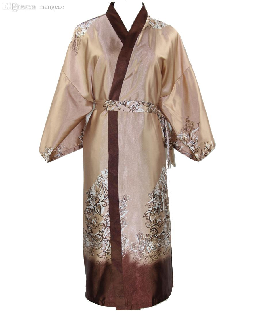 3a5c18d5cc Wholesale-New Arrival Novelty Male Silk Long Robe Chinese Men Rayon ...