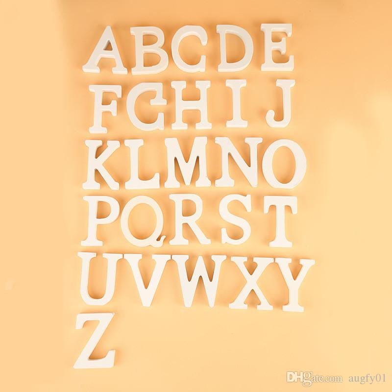 A-Z Letters Free Optional, White Wooden Wood Letters Alphabet Word ...