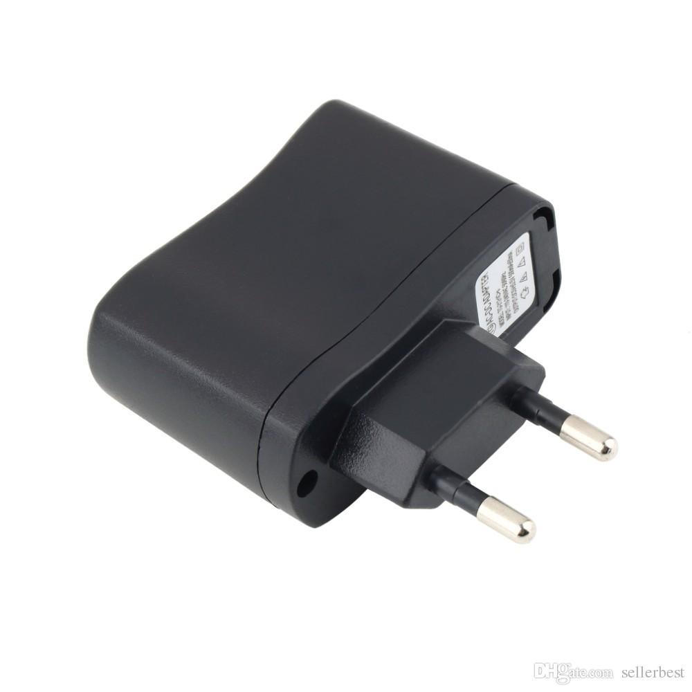 110V - 240V 범용 USB AC 전원 공급 장치 어댑터 5V 500MA MP3 MP4 빠른 홈 벽 여행 충전기 EU / US 플러그 블랙 도매