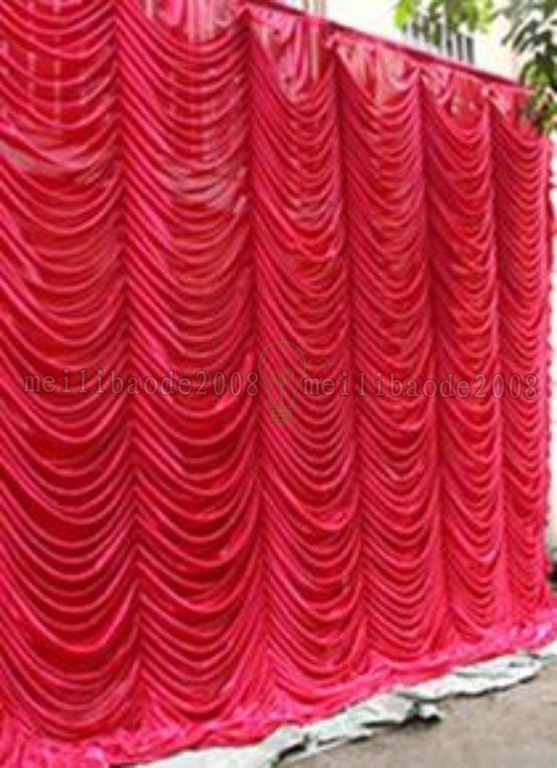 Fondo de la cortina de boda de la onda de agua elegante de 3x6m de alta calidad Swags Drapes para la boda / decoración del partido envío gratis Myy
