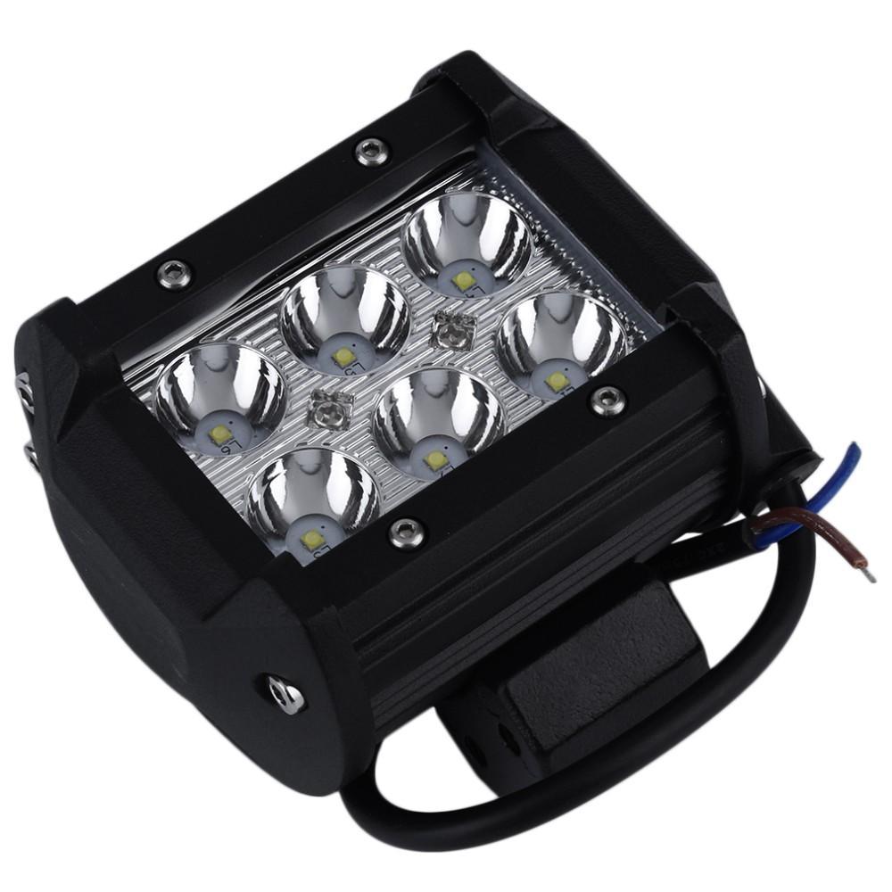 4 pulgadas 18W 6 * 3W CREE LED Luz de trabajo Luz de punto de inundación Offroad Driving LED Barra de luz 12V 24V 4x4 Camión de la motocicleta Barco Tractor Barra Camping