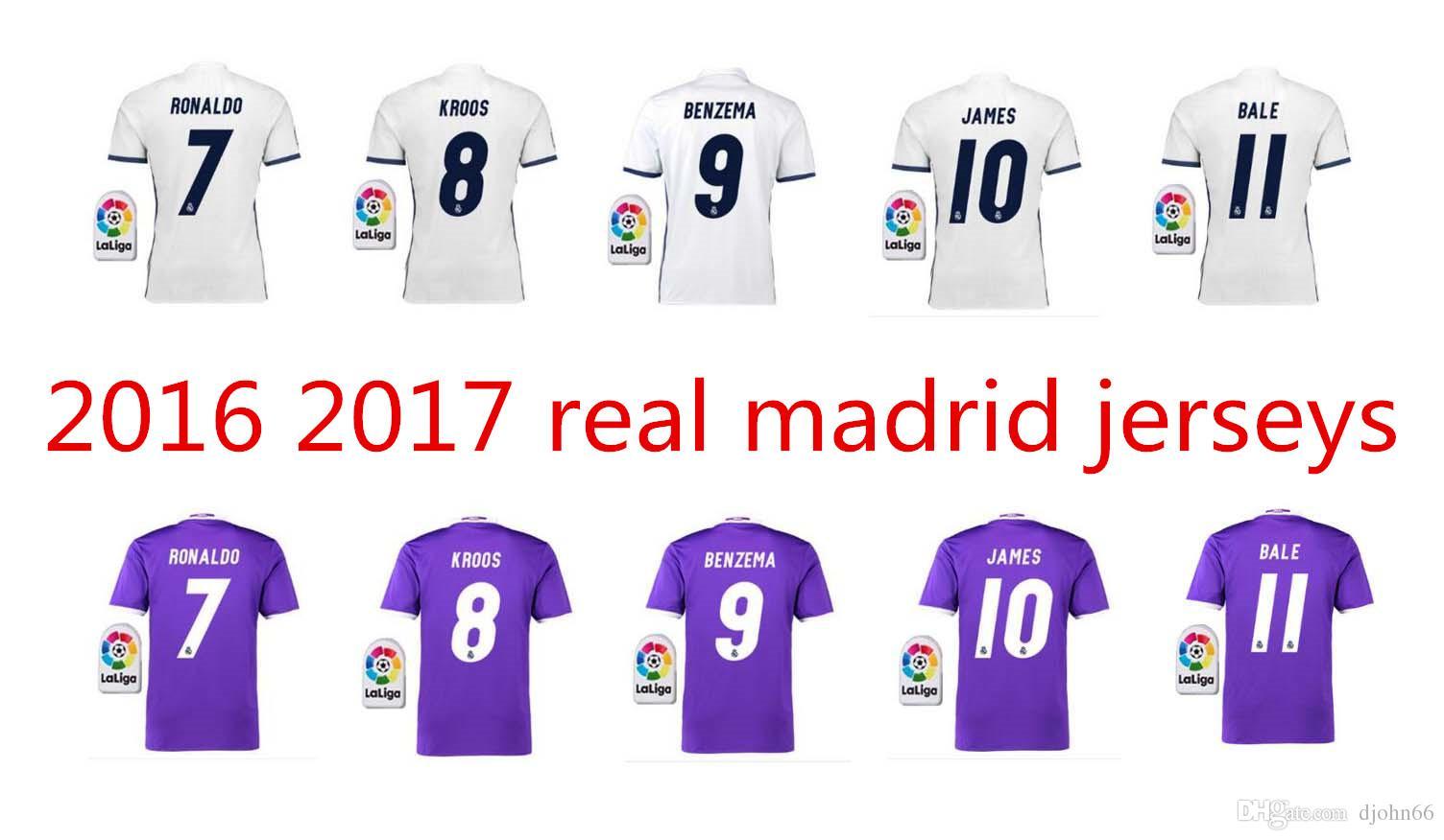 2017 Free Dhl Thai Quality 2016 2017 Real Madrid Soccer