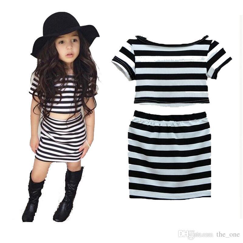 ba5e890d4 2019 PrettyBaby Girls Striped Pattern Princess Dress Toddler Girl T ...