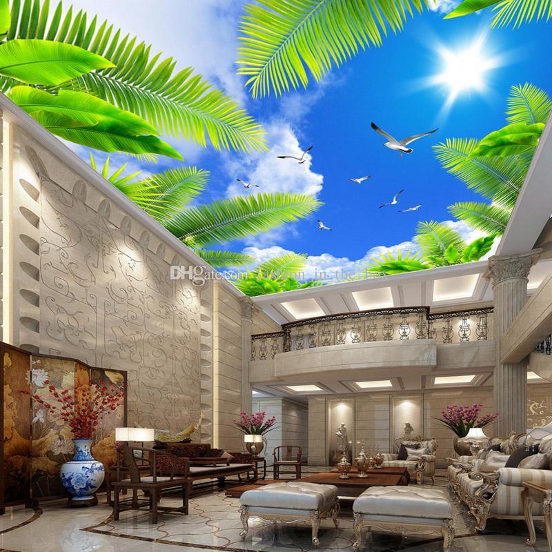 Großhandel Blauer Himmel Fototapete Benutzerdefinierte 3D Wallpaper Für  Wände Naturlandschaft Fototapete Decke Schlafzimmer Wohnzimmer Restaurant  HD ...