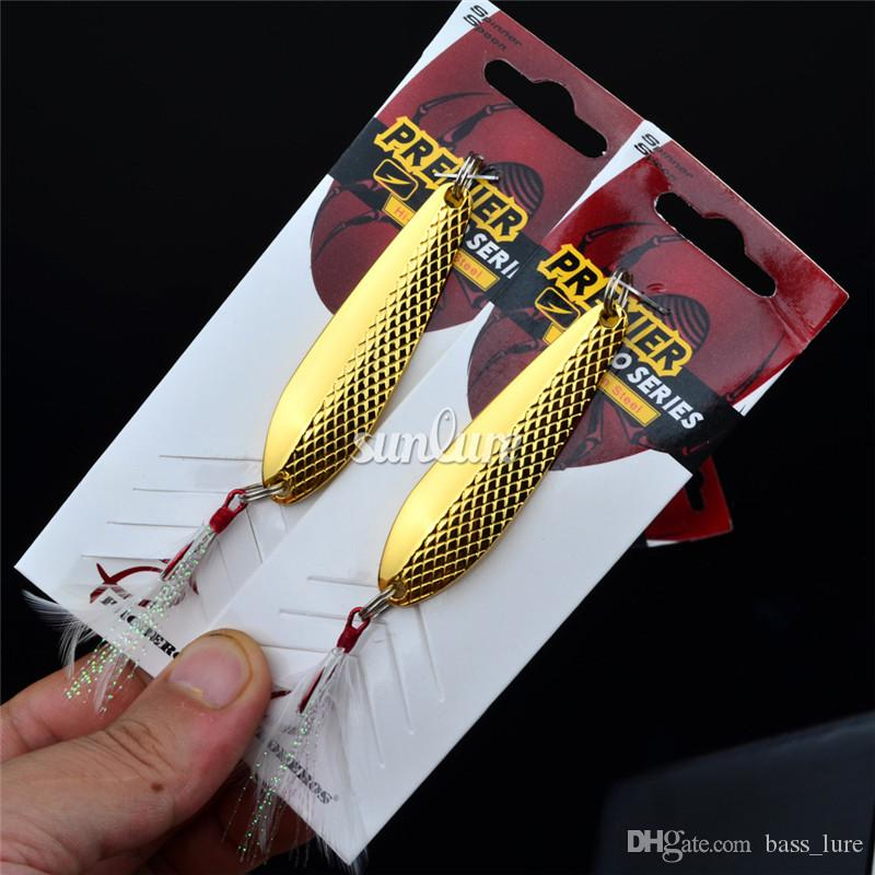 "Gold and Silver color Spoon Lures 7cm-2.8""/16g-0.57oz Deep Diving Alloy spinnerbait Metal Cast Sequins Fishing Lures"