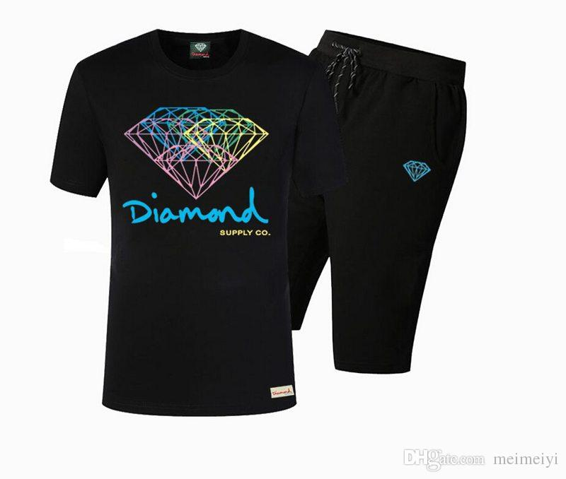 51397977c54 S 5xl T Shirt +Pants Diamond Supply Co Mens Cotton Cool O Neck Mans Tops Tees  Shirt Buy Shirt Designs Funny Clever T Shirts From Mary3788