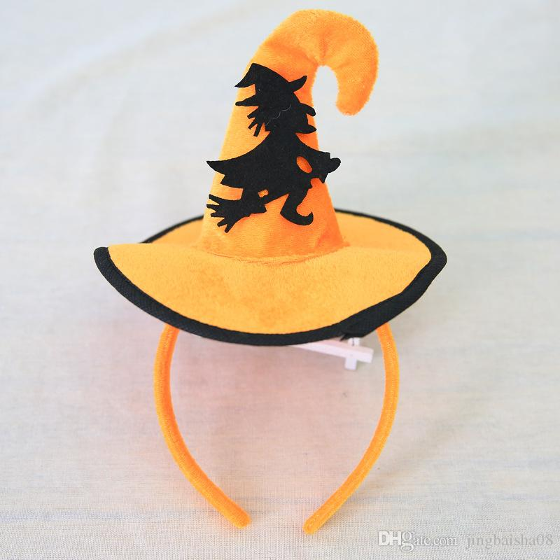 Halloween Headbands Faixa de Cabelo Crianças e Adultos Acessórios Para o Cabelo Chapéu de Abóbora Teia De Teia De Aranha Chapéu Crianças Partido Headwear Cabelo Varas Fecho