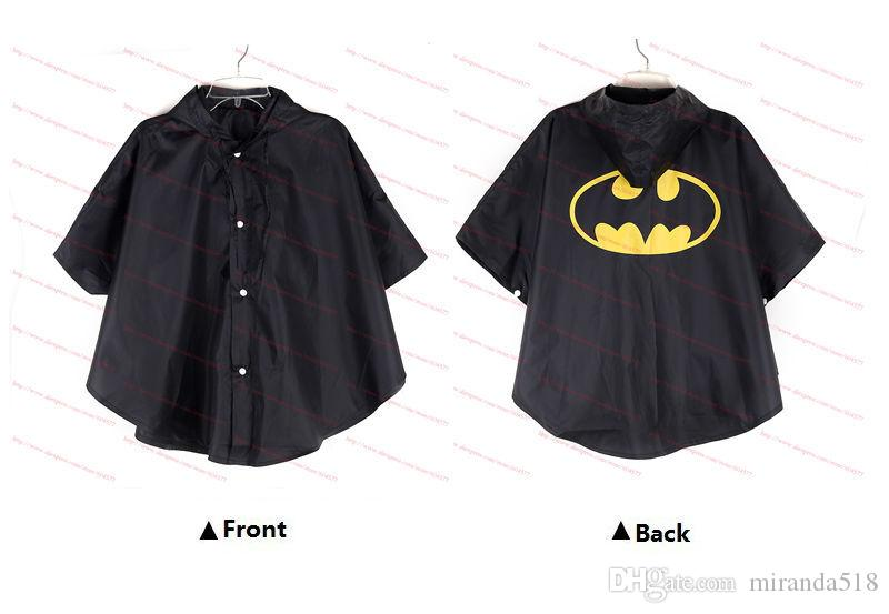 Kids Rain Coat children Raincoat Rainwear/Rainsuit,Kids Waterproof Superhero Raincoat Rainwear rain jackets Superman Spiderman Batman